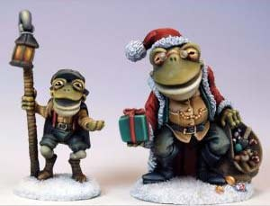 Santa Frog and Tadpole Timmy