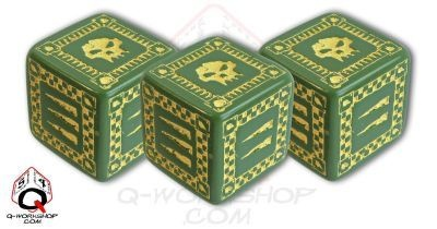 Ork Battle Dice Green (5)