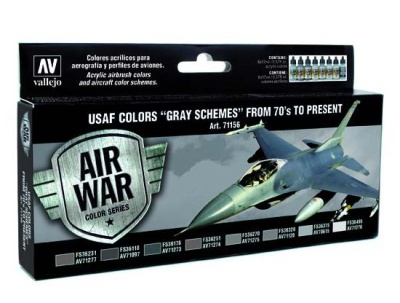 "Model Air Set USAF Colors""Gray Schemes"" from 70's to p"