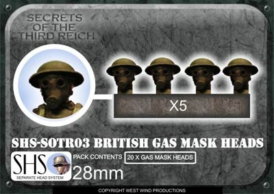 British Gas Mask Heads (20)