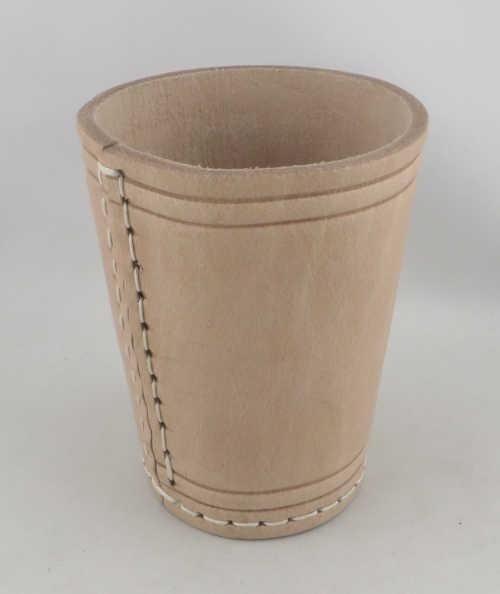 Dice Cup - Würfelbecher Leder NATUR