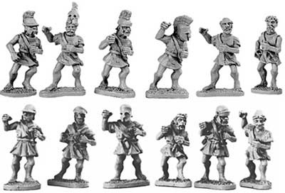 Unarmoured Hoplites (Random 8 of 16 designs)