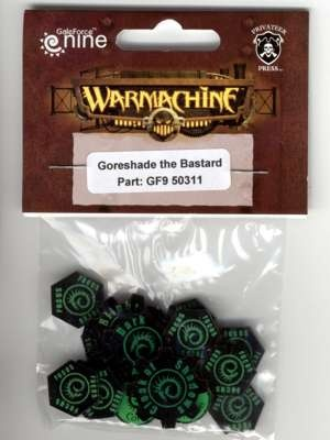 Warcaster Token Set - Cryx - Goreshade the Bastard (OOP)