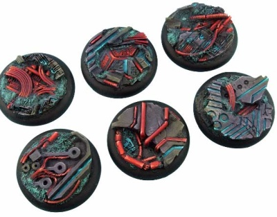 Derelict Bases, WRound 40mm (2)