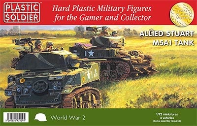 1/72: Allied M5A1 Stuart Tank (3)