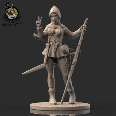 Rosie, the Bowmen (28mm)