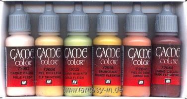 Game Color Set: Skin Colors (8)