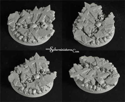 Cursed Earth 60mm round base (1)