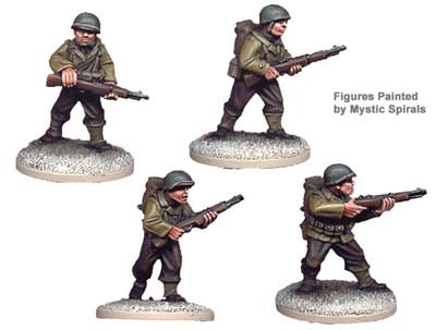 US Infantry Riflemen I (4 figs)