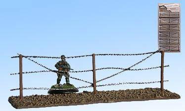 Stacheldraht-Zaun