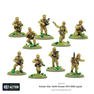 Korean War: North Korean KPA SMG squad (10)