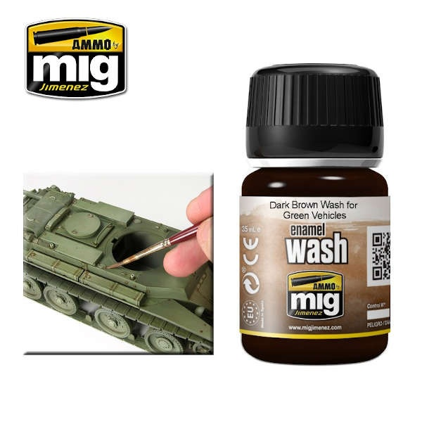 Dark brown Wash for Green Vehicles (35ml)