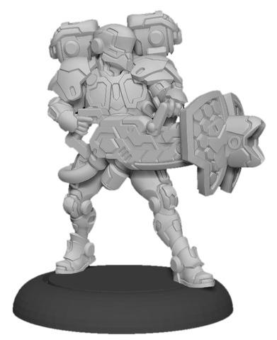 Paladin Aegis - Warcaster Iron Star Alliance Attachment