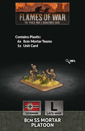 8cm SS Mortar Platoon (x6 Plastic)