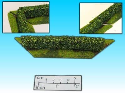 Geländestück Hecke (15mm)
