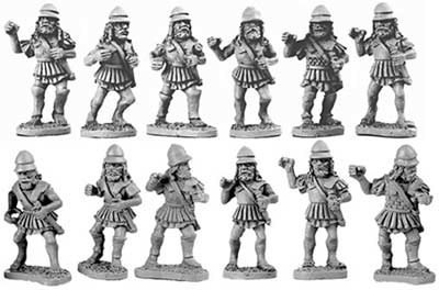 Spartan Hoplites in linen cuirass (Random 8 of 12