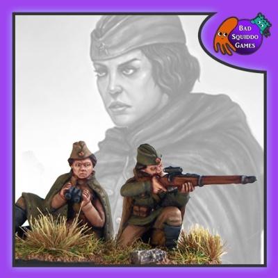 Soviet Sniper Team (Kneeling)