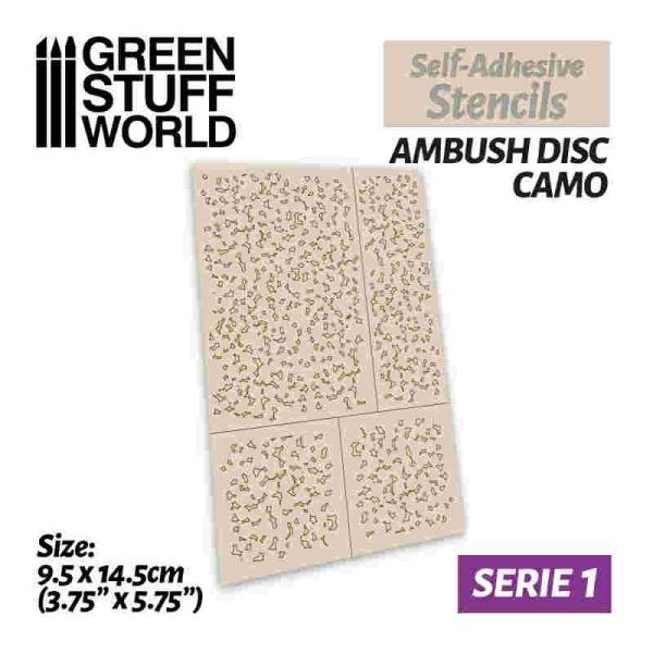Self-adhesive stencils - Ambush Disc Camo