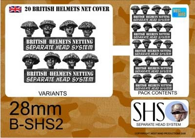 BRITISH IN STEEL HELMETS CAMO NETTING