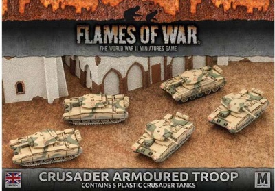Desert Rats Crusader Armoured Troop (Plastic x 5)