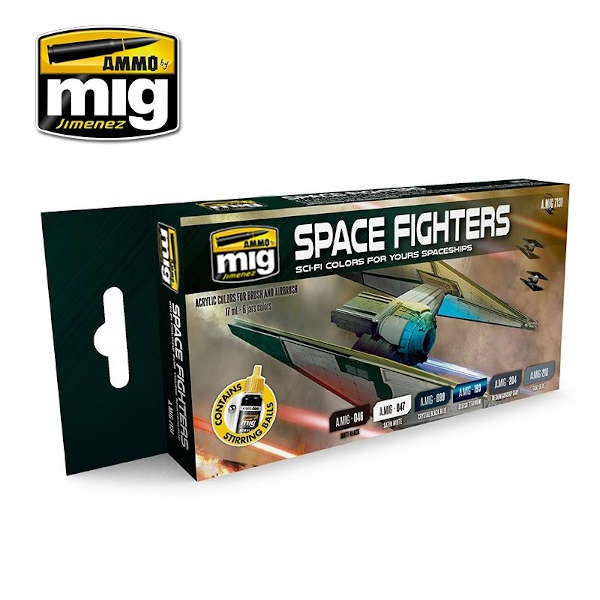 SPACE FIGHTERS SCI-FI COLORS (6)
