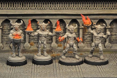 Demon Statues Set (4)
