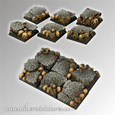 Chaos Ground Square Bases 25mm