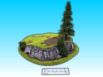 Geländestück kleiner Hügel