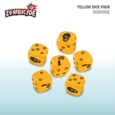 Zombicide Yellow Dice (6)