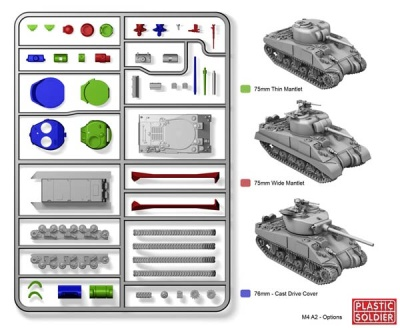 REINFORCEMENTS 15mm Sherman M4A2 (1)