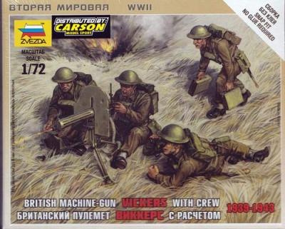 1:72 British Vickers w Crew