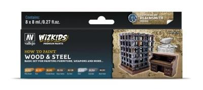 Vallejo Wizkids Premium: Wood & Steel (8ml) (8)