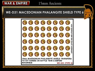 Macedonian Pikemen shield transfer  TYPE 6
