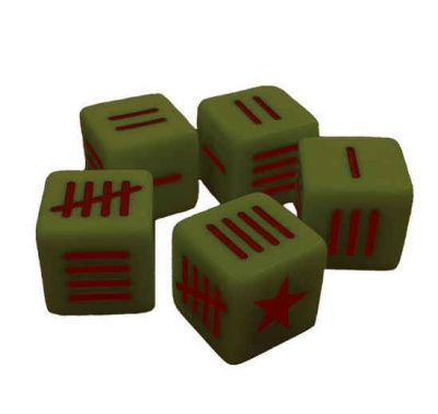 Soviet Blood Red Skies Dice set