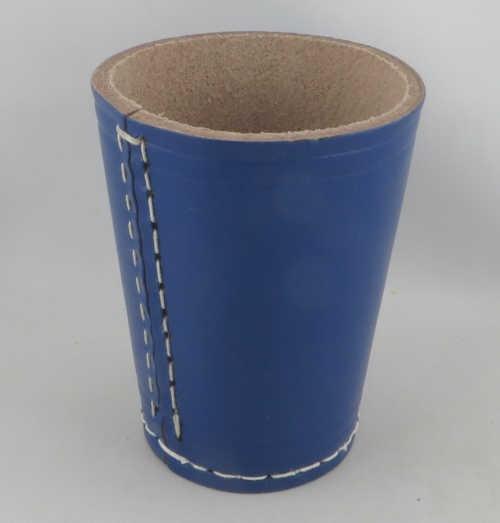 Dice Cup - Würfelbecher Leder BLAU