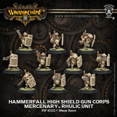 Mercenary Hammerfall High Shield Gun Corps Unit (10)