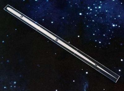Space Fighter Range Ruler BLUE