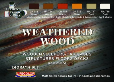 "Camouflage Set  ""Weathered Wood"""