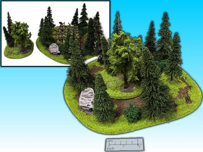 Geländestück großer Wald