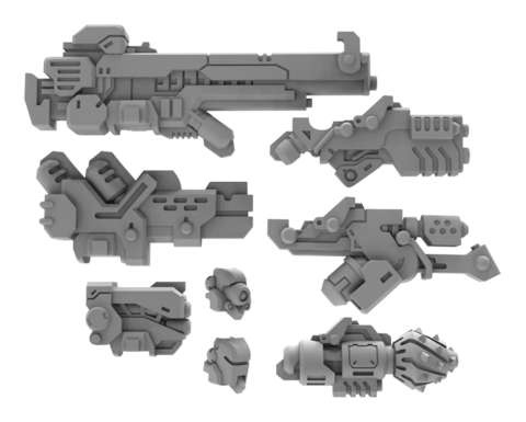 Strike Raptor A Weapon Pack - Warcaster Marcher Worlds Pack