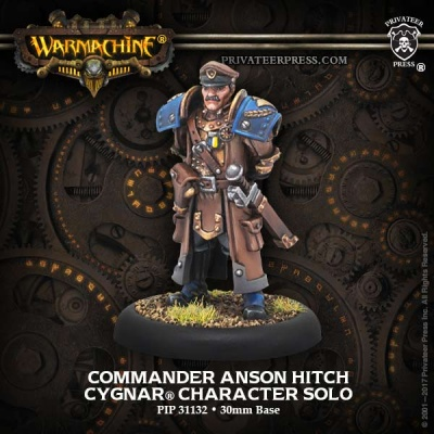Cygnar Solo Commander Anson Hitch