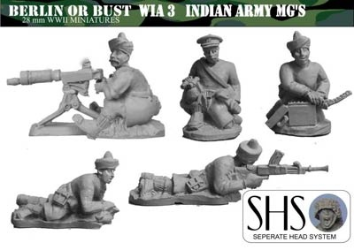 INDIAN ARMY HMG/LMG (11 PIECES)