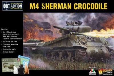 Sherman Crocodile flamethrower tank (MO)