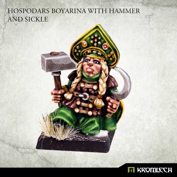 Hospodars Boyarina with hammer and sickle (1)