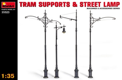 Tram Supports & Street Lamp