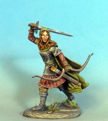 Female Ranger w Bow and Sword