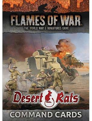 Desert Rats Command Cards (36 cards)
