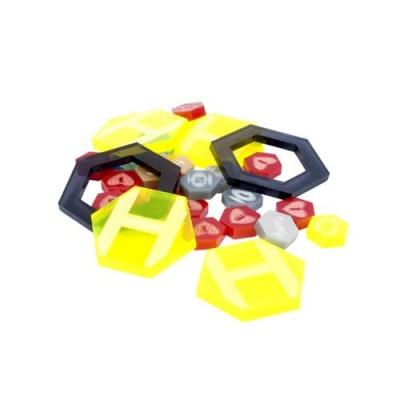 DreadBall Xtreme Acrylic Counters - Yellow