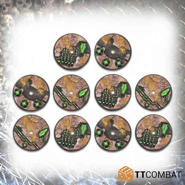32mm Tomb World Flying Bases (10)