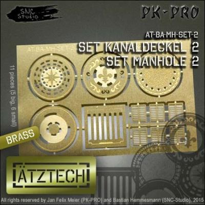 Ätztech Kanaldeckel Set 2